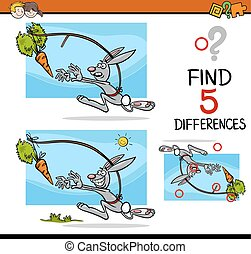 différences, préscolaire, activité