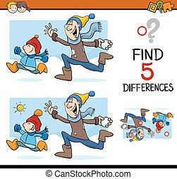 différences, tâche, activité