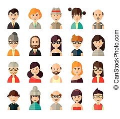 différent, avatars, collection