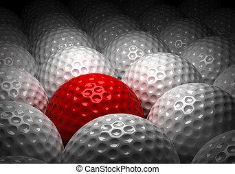 différent, balle, golf
