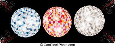 différent, balles, disco