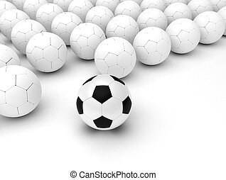 différent, ballons foot