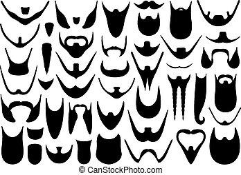 différent, barbes, ensemble