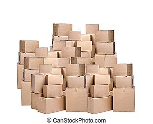différent, boîtes carton