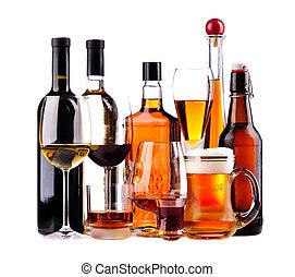 différent, boissons alcooliques