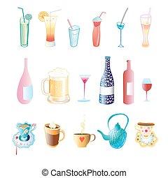 différent, boissons
