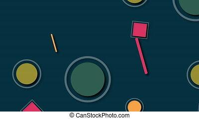 différent, coloré, informatique, géométrique, 3d, shapes., fond, rendre, engendré