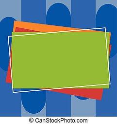 différent, concept, business, espace, couleur, résumé, moderne, rectangulaire, papier, conception, fond, vide, tas, construction, copie, esquissé, vide