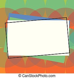 différent, concept, copie, business, espace, couleur, esquissé, matériel, isolé, promotionnel, papier, tas, vide, gabarit, vide, affiches, construction, rectangulaire, bons