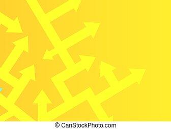 différent, concept, point, flèches, solving., directions., problème