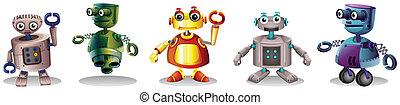 différent, conceptions, robot