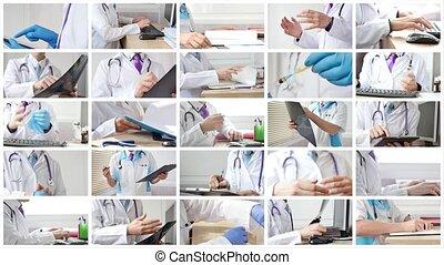 différent, docteur, situations, monde médical