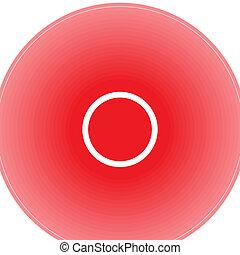 différent, douleur, localization, anneaux, indiquer, rouges
