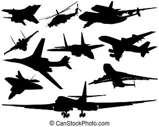 différent, ensemble, avion