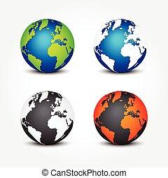 différent, ensemble, couleur, (, global, ), 4, saisons