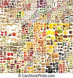 différent, ensemble, fruit