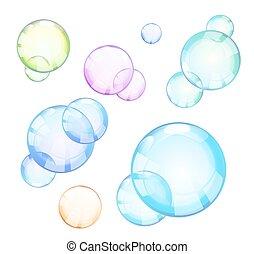 différent, ensemble, illustration, vecteur, colors., bulle