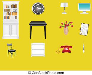 différent, ensemble, meubles