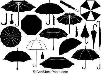 différent, ensemble, parapluies