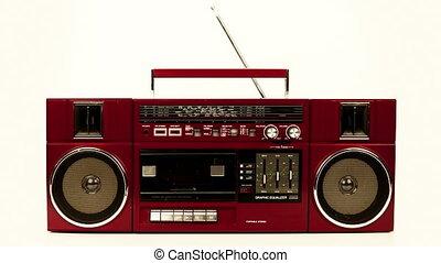 différent, fait, écouteurs, ghettoblasters, séquence, collection, télés, surprenant, cassettes, hifi's, retro