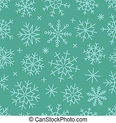 différent, flocons neige, seamless, glace, arrière-plan.,...