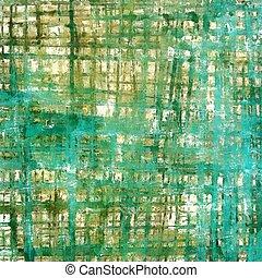 différent, grunge, a mûri, couleur, cyan;, résumé, jaune, (beige);, brown;, blue;, green;, fond, vendange, patterns:, blanc, texture.