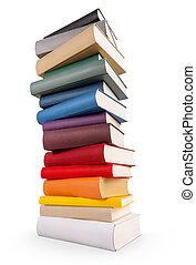 différent, livre, livres, coloré, tour