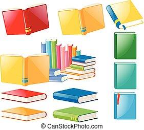 différent, livres, conceptions