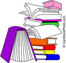 différent, livres, groupe