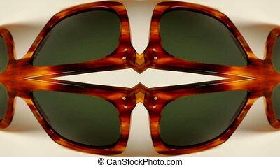 différent, lunettes soleil, collection, surprenant, retro, stopmotion