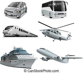 différent, mode, transport