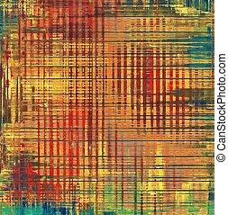 différent, (orange);, grunge, couleur, jaune, (beige);, brown;, vert, patterns:, vieilli, texture., rouges