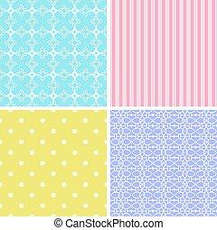 différent, patterns., 4, seamless
