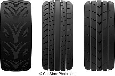 différent, pneu