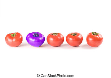 différent, repos, tomatoes., que