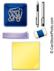 différent, stationaries, types