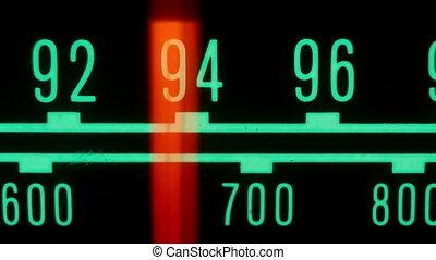 différent, stations, fréquences, courant, incandescent,...