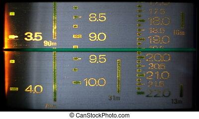 différent, stations, fréquences, haut, courant, radio,...