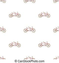 différent, vélo, bicycle., style, symbole, double, two., bike., plaisir, icône, vecteur, mode, écologique, tandem, dessin animé, transport., stockage, unique, illustration.