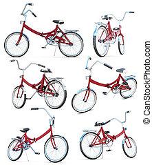 différent, vélo, perspectives