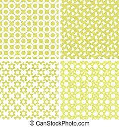 différent, vecteur, seamless, patterns.