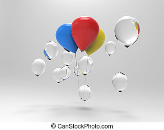Difference of business concept with balloons