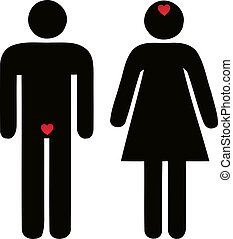 difference of man and woman concerning love
