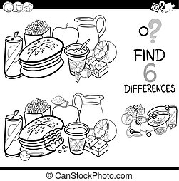 differences 135 bw - Black and White Cartoon Illustration of...
