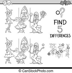 differences test coloring book