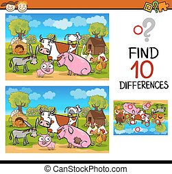 differences test with farm animals