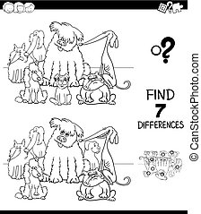 differences with purebred dogs color book