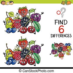 differences_137.eps - Cartoon Illustration of Finding the...