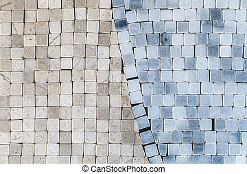 Different abstract mosaic, wall, floor tile