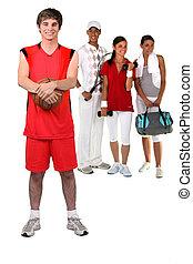 different athletes